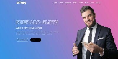 Intima - Responsive Bootstrap 4 Portfolio Theme