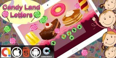 Candyland Alphabet Letters Construct 3 HTML5 Game