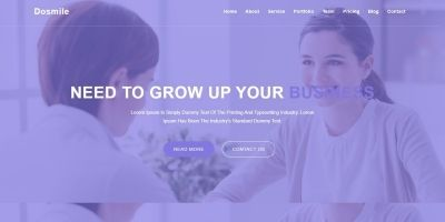 Dosmile Consulting And Business HTML5 Template