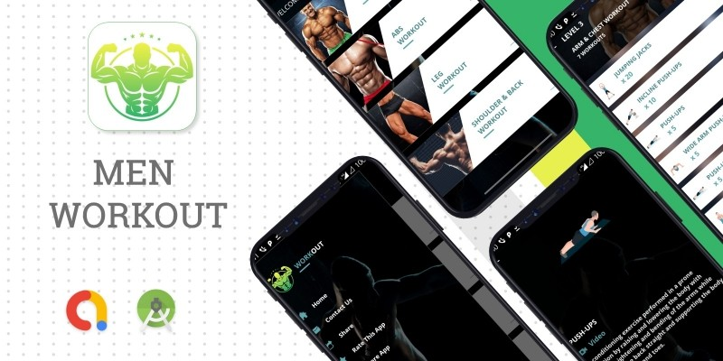 Men Fitness App - Android Source Code