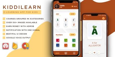 KiddiLearn - E-Learning Android App For Kids