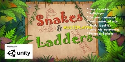 Multiplayer Snakes and Ladders - Unity Source Code