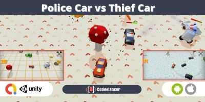 Police Car vs Thief Car Game - Unity Source Code