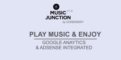 Music Junction - Music Player Website Script