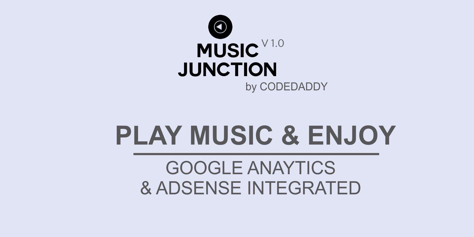 Music Junction - Music Player Website Script