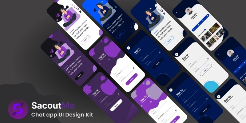 ScoutMe - Chat App UI Kit - Figma Project