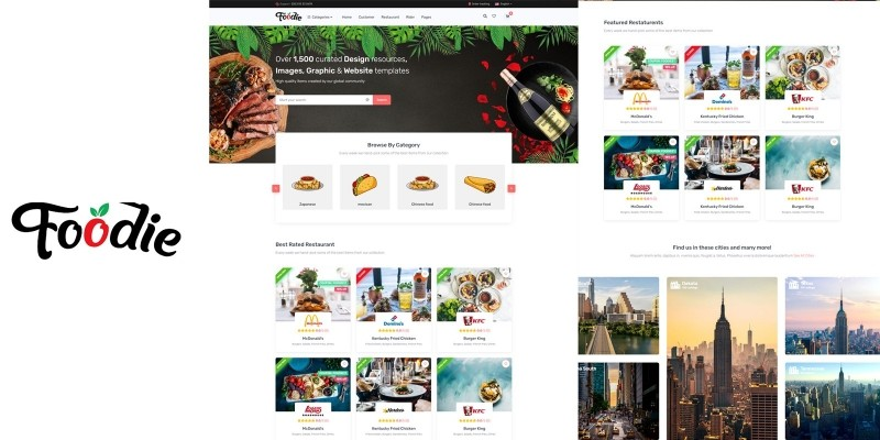 Foodie - Food Delivery Service HTML5 Template