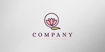 Letter Lotus Logo Template