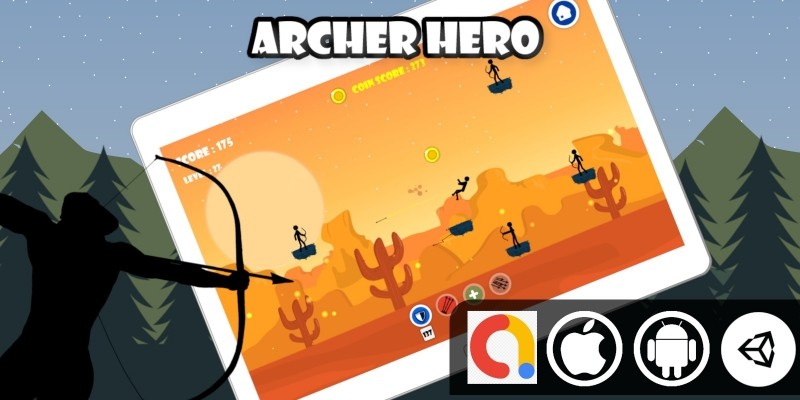 Archer Hero Unity 2D Shooter Game With Admob