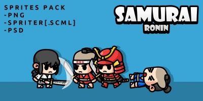 Samurai Ronin Game Sprites