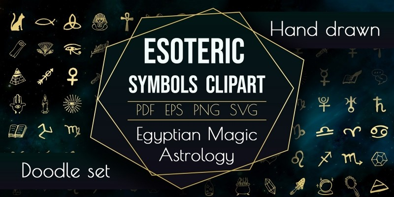 Spiritual Sacred Magic Elements Astrology Symbol