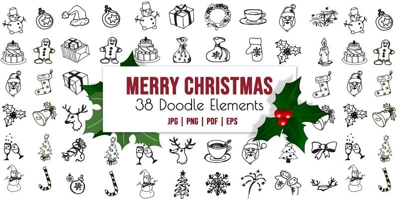 Christmas Vector Illustrations - Winter Clipart Se
