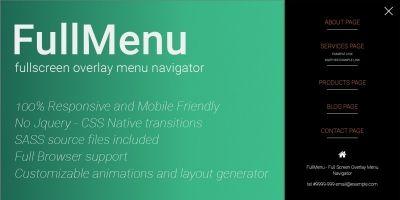 FullMenu - Fullscreen Overlay Menu Navigator