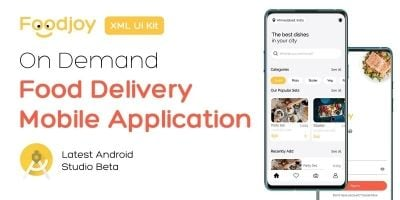 Foodjoy - On Demand Food Delivery App UI Kit
