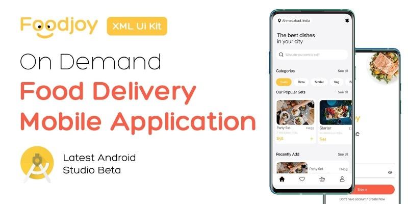 Foodjoy - On Demand Food Delivery App UI Kit