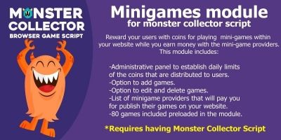 MiniGames - Monster Collector Script Module
