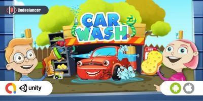 Modern Car Wash Garage Unity Game