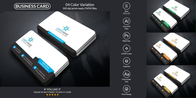 Clean And Corporate Business Card Design