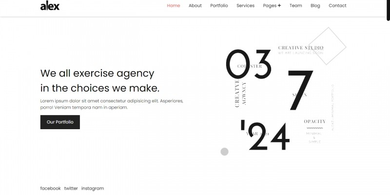 Alexz – Creative Agency And Personal One Page