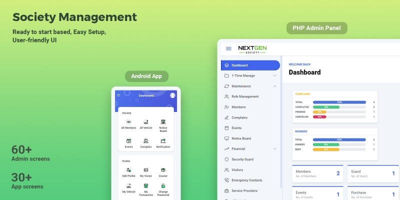 Society Management System Android App With Admin