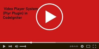 Video Player System Plyr Plugin In CodeIgniter