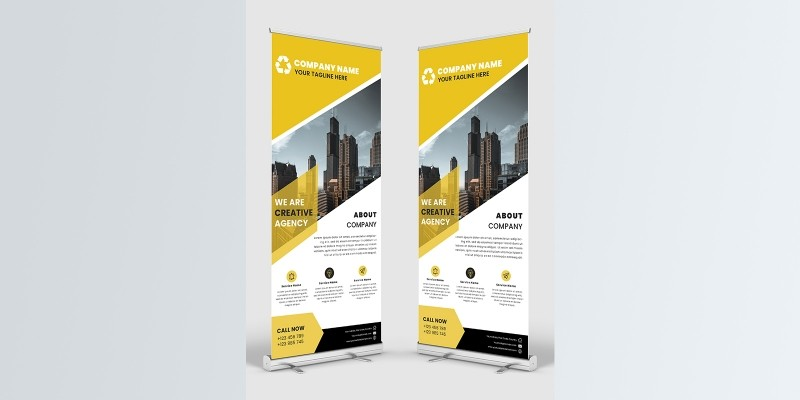 Modern Corporate Business Roll Up Banner Template