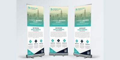 Corporate Business Agency Roll Up Banner Template