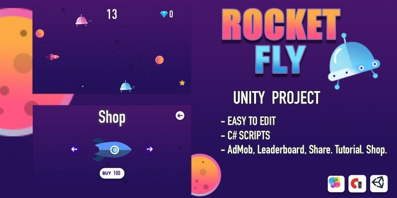 Rocket Fly - Unity Source Code