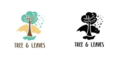 Tree And Leaves Logo Templates