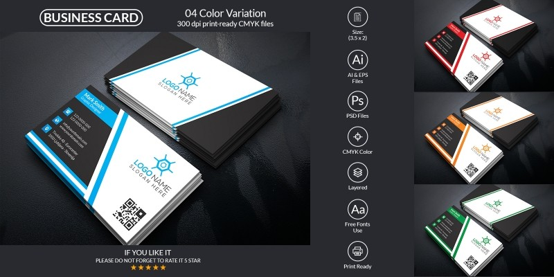 Corporate And Modern Business Card Design