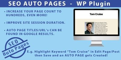 SEO Auto Pages - WordPress Plugin