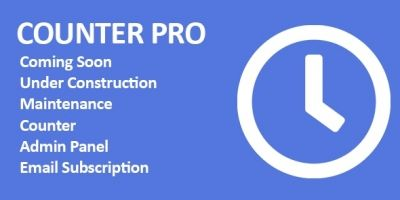 Counter Pro - PHP Coming Soon Counter with Admin