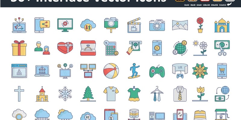 50 Interface icons
