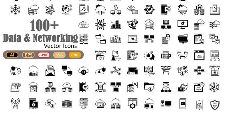 Data and Networking Vector icon