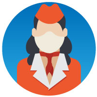 Professional Face with Mask Vector icons