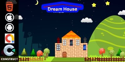 Dream House - Kids Educational Construct 3 Game