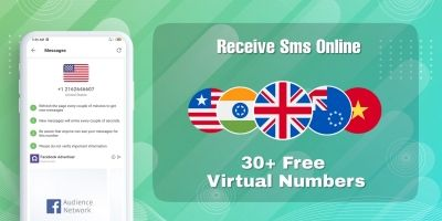 Receive SMS Via Virtual Numbers - Android App