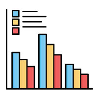 Graph Isolated Vector icon
