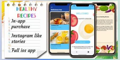 Healthy Recipes - Full iOS Application