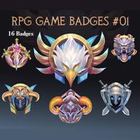 RPG Game Badges Pack 01