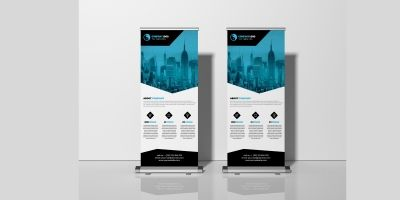 Simple Corporate Business Roll Up Banner Template