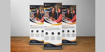 Professional Corporate Roll Up Banner Template