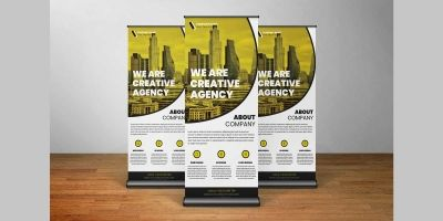 Stunning Business Agency Roll Up Banner Template