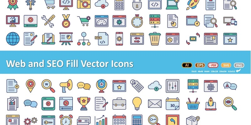 Web and SEO Vector Icons
