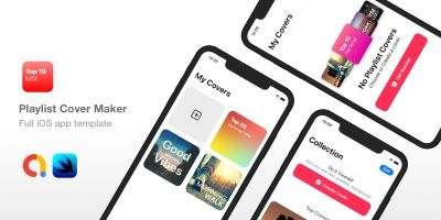Playlist Cover Maker - Full iOS App template