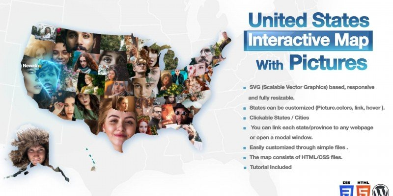 USA Interactive Map With Pictures