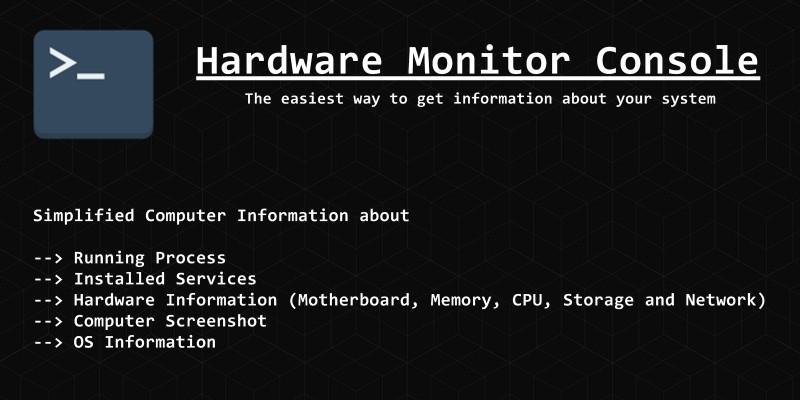 Hardware Monitor Console .NET