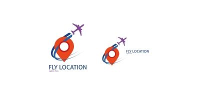 Fly Location Logo