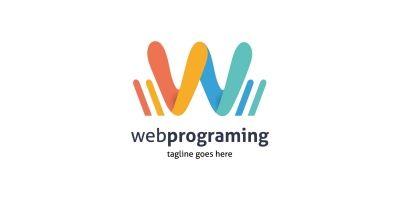 Web Programing Letter W Logo
