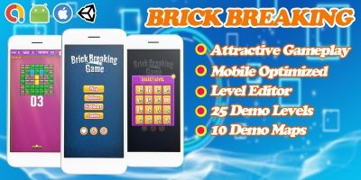 Brick Breaking Unity Game Template - Level Editor